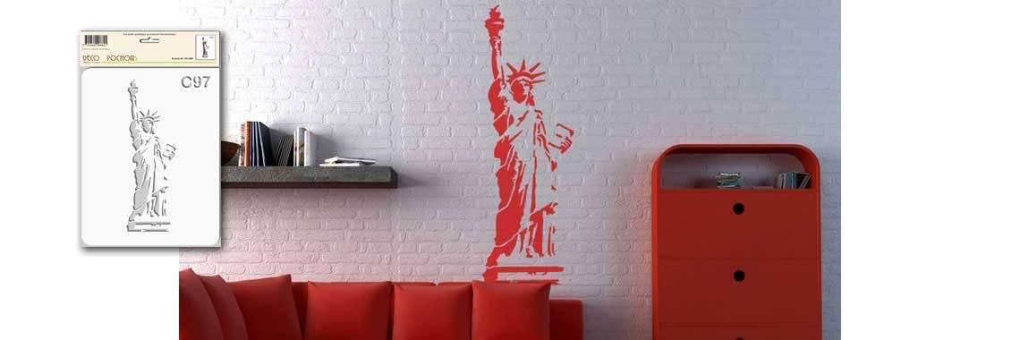 Pochoir statue de la liberté