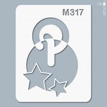 pochoir-m317 Pochoir monogramme vintage. En stock format(s) : XS-S-M-L-XL...