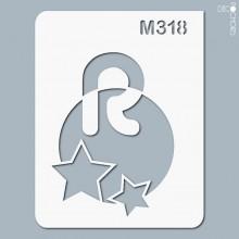 pochoir-m318 Pochoir monogramme vintage. En stock format(s) : XS-S-M-L-XL...