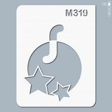 pochoir-m319 Pochoir monogramme vintage. En stock format(s) : XS-S-M-L-XL...