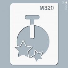 pochoir-m320 Pochoir monogramme vintage. En stock format(s) : XS-S-M-L-XL...