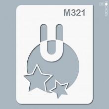 pochoir-m321 Pochoir monogramme vintage. En stock format(s) : XS-S-M-L-XL...