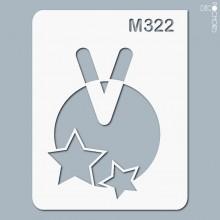 pochoir-m322 Pochoir monogramme vintage. En stock format(s) : XS-S-M-L-XL...