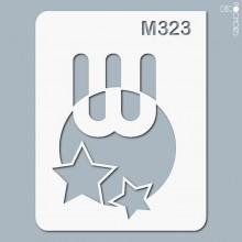pochoir-m323 Pochoir monogramme vintage. En stock format(s) : XS-S-M-L-XL...