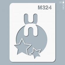 pochoir-m324 Pochoir monogramme vintage. En stock format(s) : XS-S-M-L-XL...