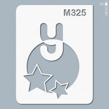 pochoir-m325 Pochoir monogramme vintage. En stock format(s) : XS-S-M-L-XL...