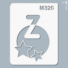 pochoir-m326 Pochoir monogramme vintage. En stock format(s) : XS-S-M-L-XL...