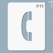 pochoir-p011 Pochoir pictogramme. En stock format(s) : M...