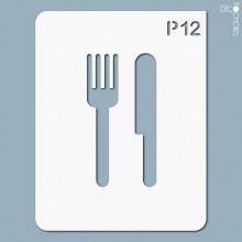 pochoir-p012 Pochoir pictogramme. En stock format(s) : M...