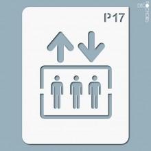 pochoir-p017 Pochoir pictogramme. En stock format(s) : M...