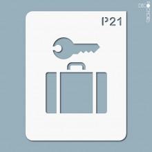 pochoir-p021 Pochoir pictogramme. En stock format(s) : M...